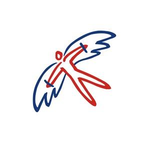 运动休闲滑翔人物logo标志