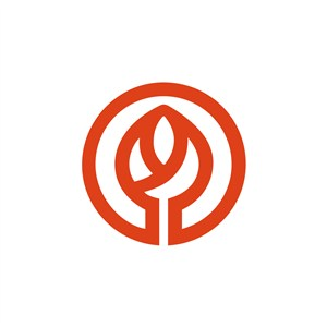 金融机构花苞logo标志