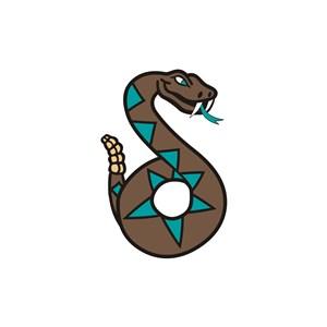 休闲娱乐鬼屋S型蛇logo标志