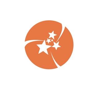 商务贸易星星logo标志