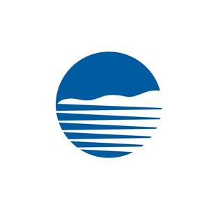 网络科技圆形山水logo标志