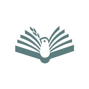 教育培训书鸟logo标志