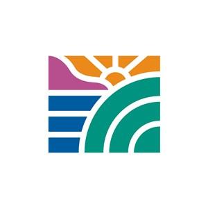 太阳水纹图案家居地产logo