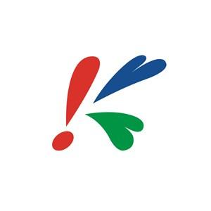 运动休闲行业K字logo标志