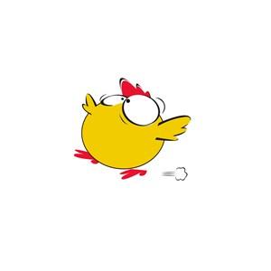 小黄鸡运动休闲logo设计