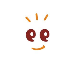 笑脸逗号眼睛儿童品牌logo