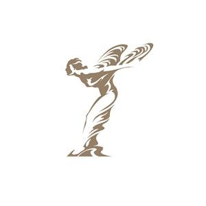 美女图案美容会所logo