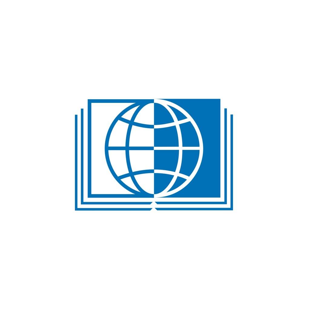 教育培訓機構地球書logo標志