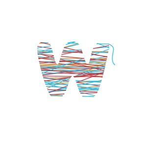 缠线创意w标志设计