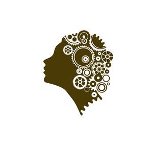 机械人脑标志设计素材