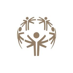 环球人物运动休闲logo设计