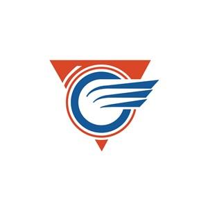 Q翅膀航空公司logo设计