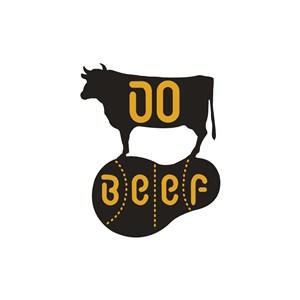牛图案牛排品牌logo设计