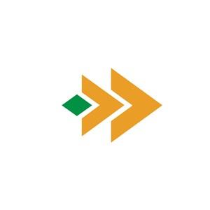 箭头图案设计传媒公司logo