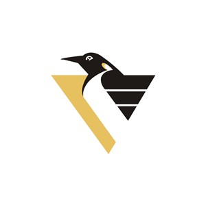 三角企鹅设计传媒logo