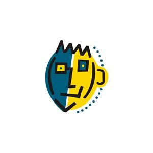 艺术笑脸设计传媒logo