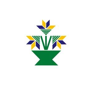 几何花朵家居品牌logo设计