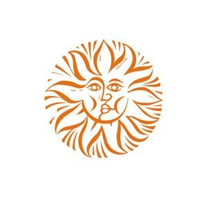 太阳花笑脸运动休闲logo