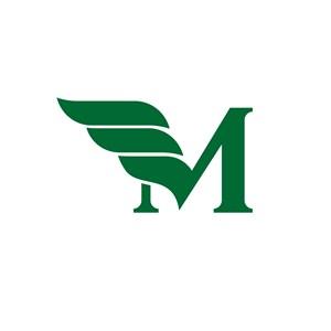 M翅膀设计传媒公司logo