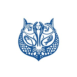 美人鱼运动休闲logo设计