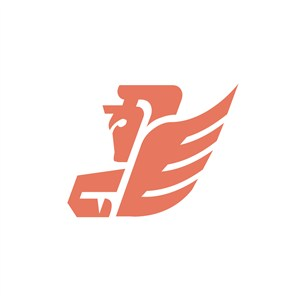 E人物翅膀设计传媒logo