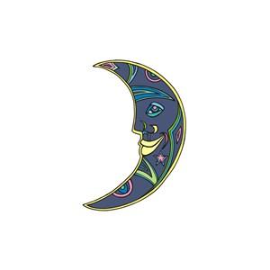 笑脸月亮运动休闲logo
