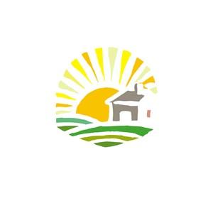 太阳山庄酒店旅游logo