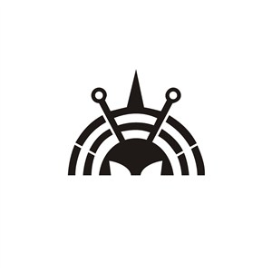 卡通黑色蜜蜂图案标志设计