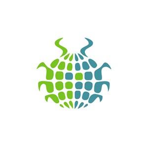 铁甲虫地球标志设计素材