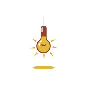 灯泡创意图标设计