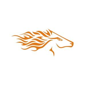 奔腾的马图案logo设计