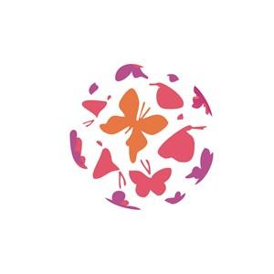 蝴蝶标志设计素材