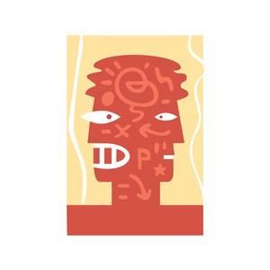 创意双向思维大脑标志设计素材