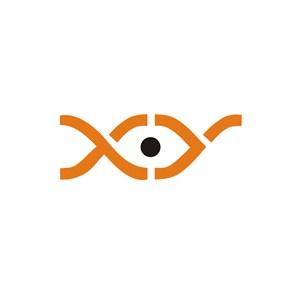 眼睛抽象标志设计素材