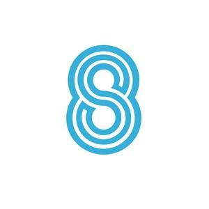 数字8创意标志设计