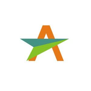 字母A纸飞机标志设计素材