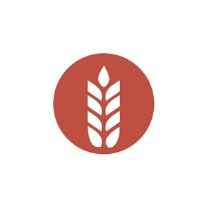 麦穗图案logo标志设计