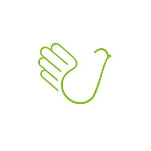手掌鸽图案标志设计