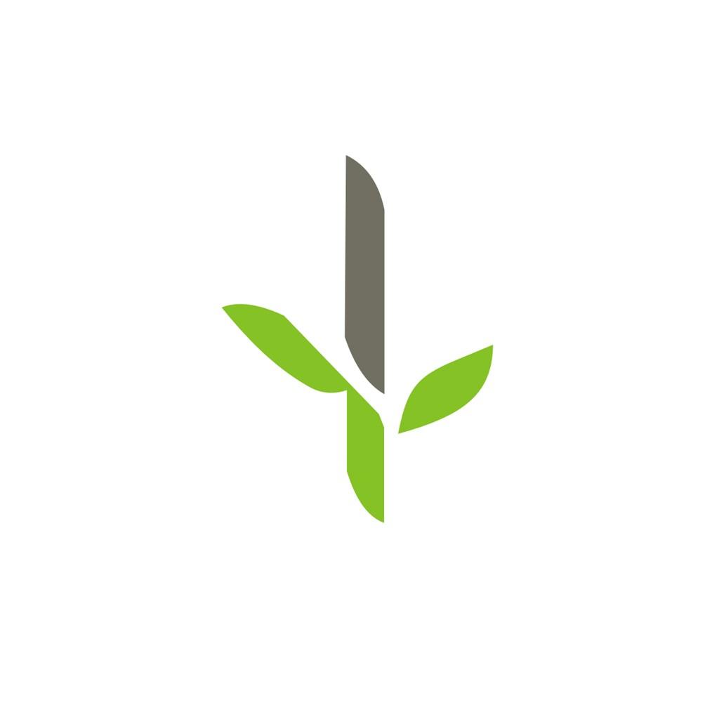 竹叶图案简约标志设计