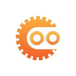 电子机械logo设计--齿轮机械logo图标素材下载