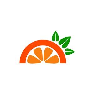 果汁logo設計--橙子logo圖標素材下載