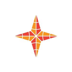 电子机械logo设计--锥形星logo图标素材下载