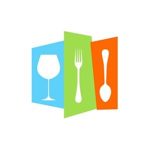餐飲行業-餐具矢量圖商標素材下載
