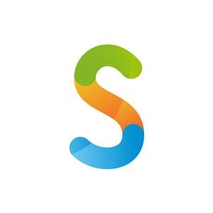 彩色字母S矢量logo标志下载