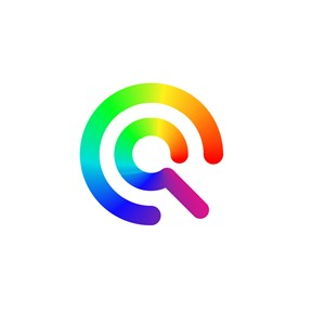 彩色字母Q矢量logo标志下载