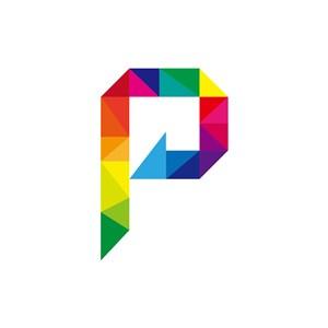 彩色字母P矢量LOGO标志素材下载