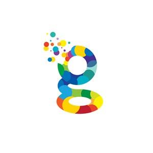 商务贸易-彩色字母g矢量logo图标素材下载