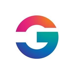 彩色字母G矢量logo图标素材下载
