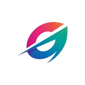 彩色字母G矢量标志设计素材下载