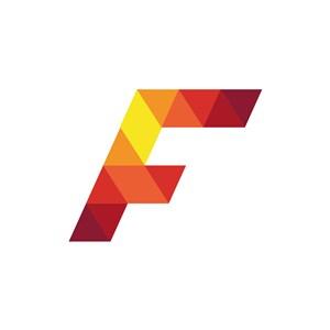 彩色字母F矢量logo标志设计素材下载